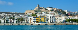 Ibiza,old town from the sea