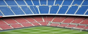 Estadio de futbol Camp Nou y Barcelona